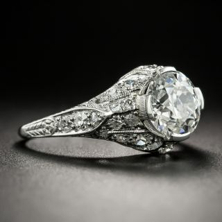 Edwardian 1.64 Carat Diamond Engagement Ring - GIA H VS1