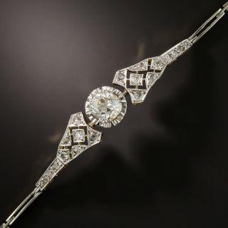 Edwardian 1.67 Carat Cushion Cut Diamond Bracelet - GIA - 2