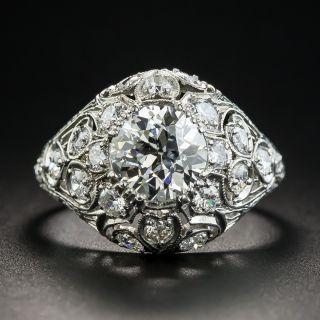 Edwardian 1.71 Carat Diamond Engagement Ring - GIA K VS2 - 1