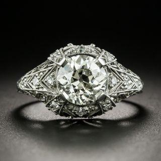 Edwardian 1.76 Carat Diamond Engagement Ring  - GIA L SI1 - 2