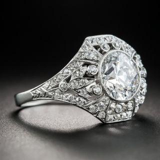 Edwardian 2.02 Carat Diamond Ring - GIA D Internally Flawless