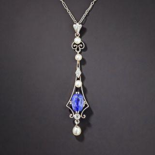 Edwardian 2.25 Carat Burma Sapphire Necklace - 2