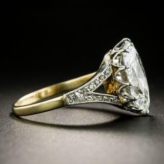 Edwardian 2.86 Carat 'Novelty-Cut' Moval Diamond Ring  - GIA F VVS2
