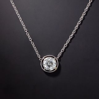 Edwardian .75 Carat Diamond Solitaire Necklace - 0
