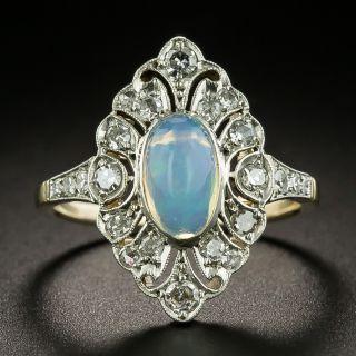 Edwardian .95 Carat Opal and Diamond Ring - 2