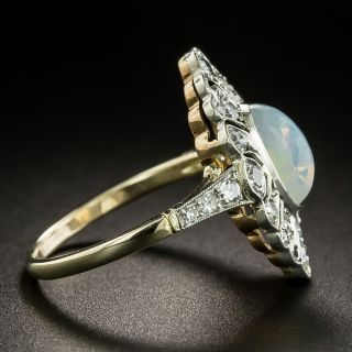 Edwardian .95 Carat Opal and Diamond Ring
