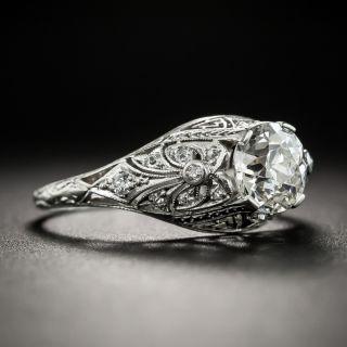 Edwardian .96 Carat Diamond Platinum Engagement Ring - GIA J VS2