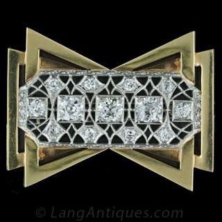Edwardian and Retro Diamond Pin Main View