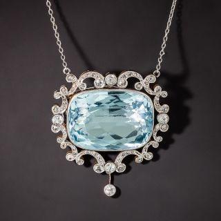 Edwardian Aquamarine and Diamond Necklace - 1