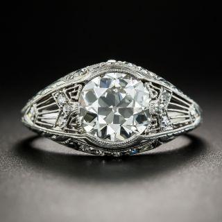 Edwardian/Art Deco 1.78 Carat Diamond Engagement Ring by Granat Bros - GIA L VS2 - 1