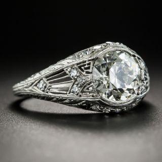 Edwardian/Art Deco 1.78 Carat Diamond Engagement Ring by Granat Bros - GIA L VS2