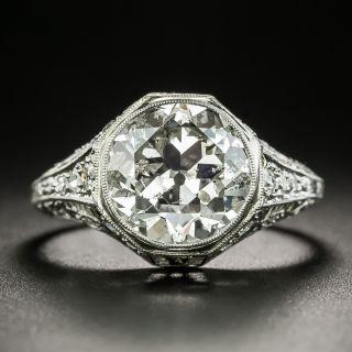 Edwardian/Art Deco 3.55 Carat Diamond Engagement Ring by Robert Klitz - 2