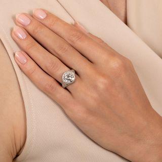 Edwardian/Art Deco 3.55 Carat Diamond Engagement Ring by Robert Klitz