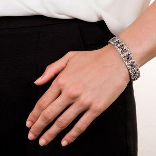 Edwardian/Art Deco Diamond and Sapphire Bracelet