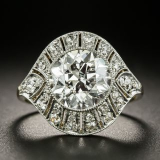 Edwardian/Deco 2.90 Carat Diamond Engagement Ring - GIA G VS1 - 3