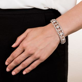 Edwardian Diamond and Platinum Bracelet