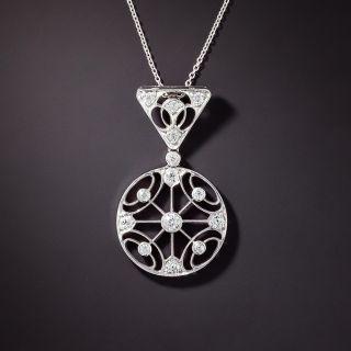Edwardian Diamond Circle Pendant - 1
