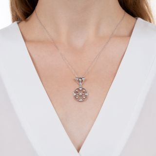 Edwardian Diamond Circle Pendant