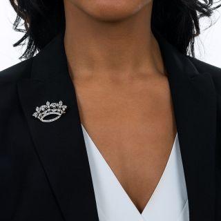 Edwardian Diamond Crown Brooch
