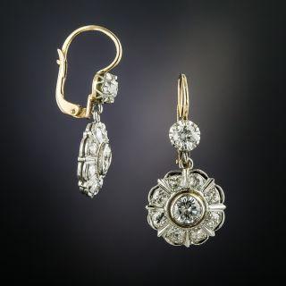 Edwardian Diamond Dangle Earrings - 2