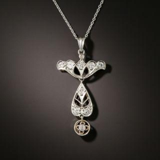 Edwardian Diamond Dangle Necklace - 2
