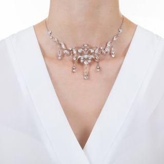 Edwardian Diamond Drop Necklace