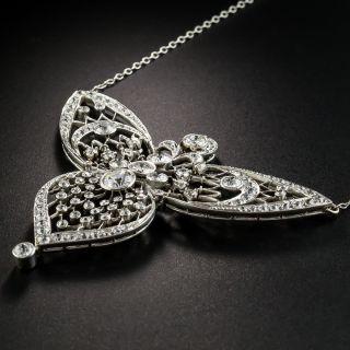 Edwardian Diamond Filigree Necklace
