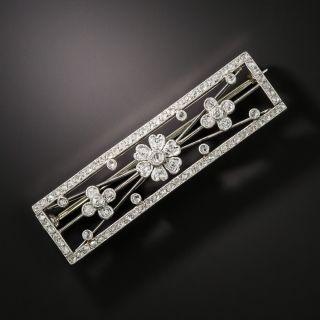 Edwardian Diamond Floral Motif Pin - 2