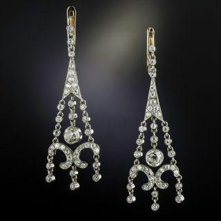 Edwardian Diamond Girandole Earrings - 1