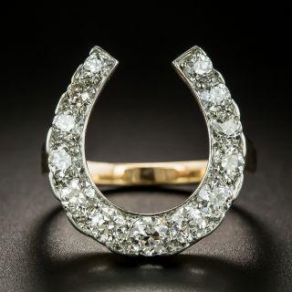 Edwardian Diamond Horseshoe Ring - 2