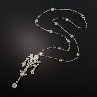 Edwardian Diamond Lavalière Necklace - 3