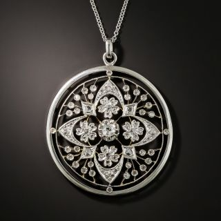 Edwardian Diamond Openwork Necklace - 2