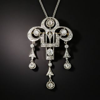 Edwardian Diamond Pendant/Brooch - 2