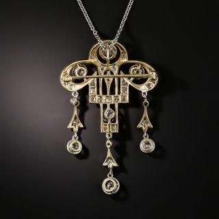 Edwardian Diamond Pendant/Brooch