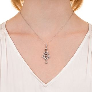 Edwardian Diamond Pendant Necklace, Circa 1900