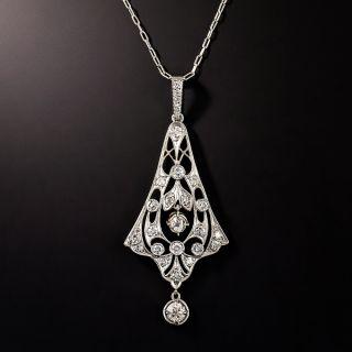 Edwardian Diamond Pendant Necklace, Circa 1900 - 5