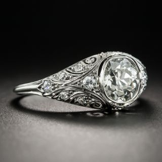 Early Art Deco 1.25 Carat Diamond Ring by Henry Blank & Sons