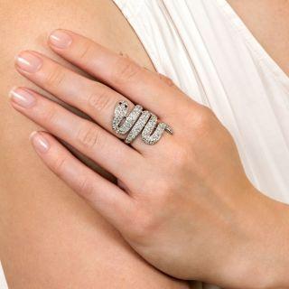 Edwardian Diamond Snake Ring