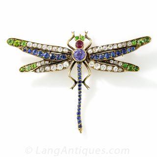 Edwardian Dragonfly Brooch - 1