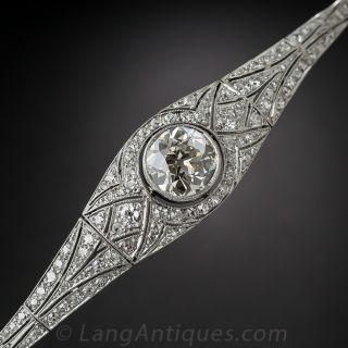 Edwardian / Early Art Deco Platinum Diamond Bracelet