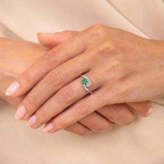 Edwardian Emerald and Diamond Toi et Moi Ring