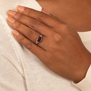Edwardian Garnet and Diamond Ring