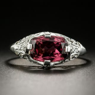 Edwardian Garnet and Diamond Ring - 1