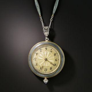 Edwardian Longines Pendant Watch Necklace