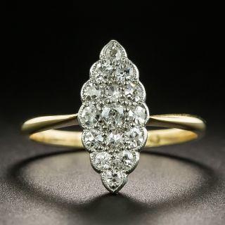 Edwardian Marquise Shaped Diamond Cluster Ring - 2