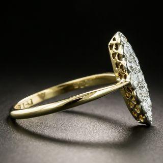 Edwardian Marquise Shaped Diamond Cluster Ring
