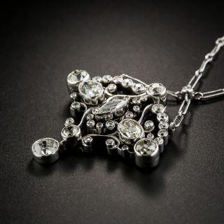 Edwardian Mixed Cut Diamond Pendant