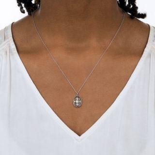 Edwardian Natural Pearl and Diamond Pendant