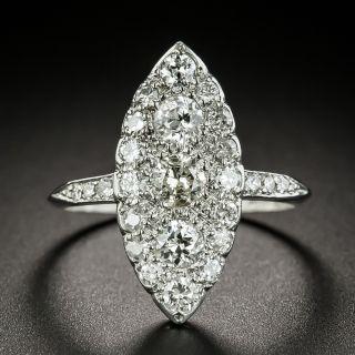 Edwardian Navette Shaped Diamond Dinner Ring  - 2