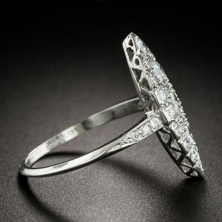 Edwardian Navette Shaped Diamond Dinner Ring